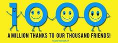 YatraChef's 1000 Likes in Facebook  #ThankYou #Poster #Facebook #YatraChef