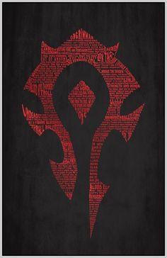 World of Warcraft: Horde Typography Print