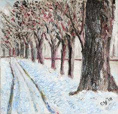 Row of Trees by CarolynYM on DeviantArt
