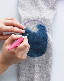 I need to fix a hole in a cashmere sweater and want to try this, but I'm 86% sure I will ruin it.