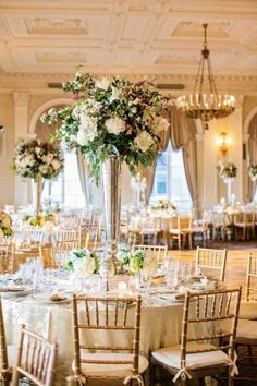 Tablescape The Yale Club Of New York City Flowers By Jonathan Couture