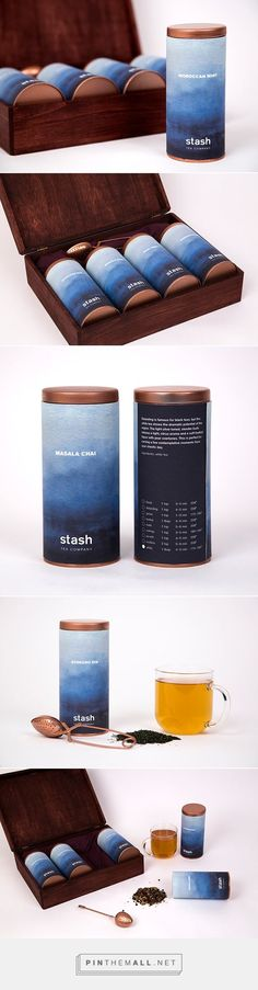 Stash Tea Company Brilliant Packaging Design examples for your inspiration this week // Introducing moirestudiosjkt a thriving website and graphic design studio. Feel Free to Follow us @moirestudiosjkt to see more #outstanding pins like this. #packaging #graphicDesign: