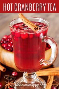 Hot Cranberry Tea Recipe is a homemade drink everyone will love. It's great for Thanksgiving or Christmas. It's an easy recipe that can also be made in the slow cooker. Informations About Grandma's Hot Cranberry Recipes, Holiday Recipes, Hot Spice Tea Recipe, What's Your Favorite Recipe, Favorite Recipes, Winter Drinks, Winter Food, Kaffee, Amazing