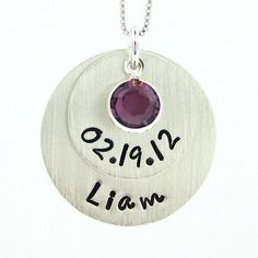 NEW MOMMY Necklace  Hand stamped Stacked by jcjewelrydesign, $51.00