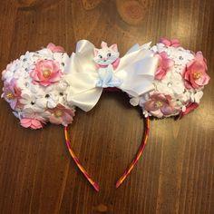 Custom Minnie or Mickey Ears, Floral Custom Ears, CHOOSE Your CHARACTER 3-D Minnie Ears