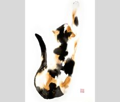 My cats ART PRINT of my original ink-watercolor von bodorka