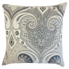 Perfect for accenting your favorite couch or armchair, this lovely throw pillow features a paisley-inspired pattern for eye-catching appeal.