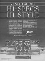 Zenith Integrated Stereo Systems 1980 Ad Picture