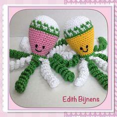 Deze inktvisjes zijn gemaakt door Edith Bijnens.