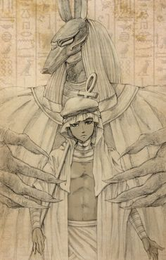 Egypt, Hetalia Fan Art This is actually the first fan-art I've seen of Egypt.   Kudos to the artist ^u^