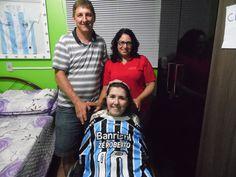 Paulo e Marisa Follmann que trouxeram a camiseta do Zé Roberto