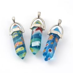 Bullet Millefiori Glass Pendants from Pandahall.com   #pandahall