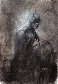 Batman [art] Exhiliratingly dark portrait