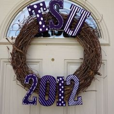 I'm graduating from Tarleton State University in 35 days! I made a wreath to represent!! :)  Very neat idea..maybe for a gift?