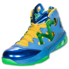 Men's Jordan Melo M9 Basketball Shoes | FinishLine.com | University Blue/Poison Green/Blitz $139.99
