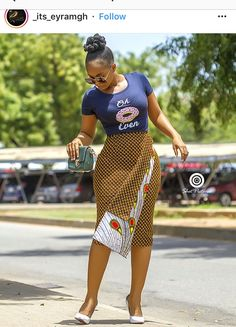 babe killed it with this killer Ankara skirt# Ankara styles print Latest African Fashion Dresses, African Inspired Fashion, African Print Fashion, Africa Fashion, Ankara Fashion, African Attire, African Wear, African Women, African Style