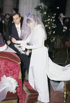 Wedding of Yves Klein and Rotraut Uecker, Paris, For the ceremony, Rotraut wore a blue tiara in her hair. Diana, Richard Tuttle, Yves Klein Blue, Art Informel, Medieval Paintings, Paris, Her Hair, Ruffle Blouse, In This Moment