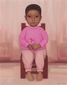 Niño con rehilete By Gustavo Montoya ,1959