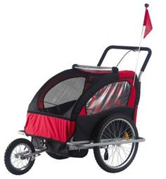 Remolque de niños Jogger Ciclotek rojo por 124.95€ en Planeta Huerto