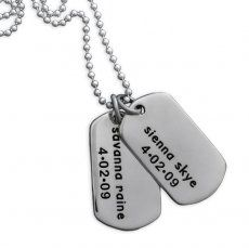 Sterling Silver Military Tag Classic