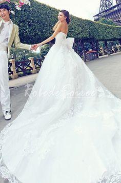 a569442ccd98 Robe de Mariée 2014-Blanche sans bretelles robe sans manches de mariée  princesse