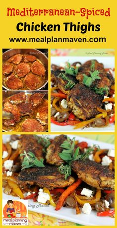 Mediterranean-Spiced Chicken Thighs l Meal Planning Maven's Blog l Wait until you see how EASY this dish is to make! A taste of the Mediterranean without ever leaving your kitchen!..