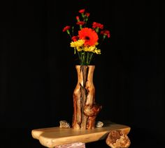 Rustic Log Vase Aspen Wood Home Décor Accent by TheRusticNature