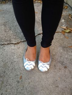 DIY Shoe Candy Part One: Trendy Chevron Flats | DIY FASHION ACCESSORIES