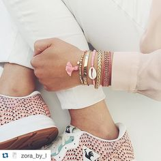 #Repost @zora_by_l with @repostapp. ・・・ All about Rose  love at first sight with these #lecoqsportif sneakers  ( Thanks to @maniet_luxus  ) #ZorabyLxManiet #ZorabyLjewels #bracelets