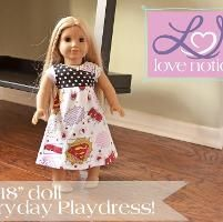 "18"" Doll Everyday Playdress - via @Craftsy"