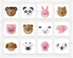 Animal icons psd pack - free photoshop brushes at brusheezy! Funny Animal Videos, Funny Animal Pictures, Funny Animals, Free Photoshop, Photoshop Brushes, Bunny Quotes, Toys Logo, Animal Wallpaper, Forest Animals