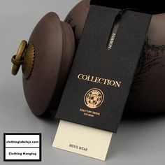 Men's Clothing Hangtags, Hangtags for Crocodile Leather Jacket, Alligator Jacket Hang Tag Pretty Packaging, Beauty Packaging, Leather Skin, Leather Jacket, Swing Tags, Clothing Tags, Badge Design, Cute Wallpaper Backgrounds, Branded Shirts