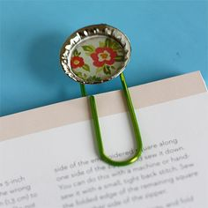 Bottle Cap bookmark tute