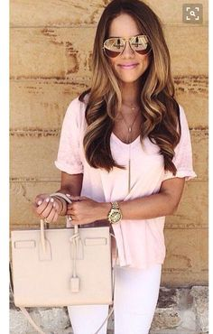 Stitch fix spring 2016 Pastel pink and white jeans