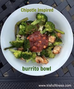 Chipotle Inspired burrito bowls.  Click on picture to go to recipe