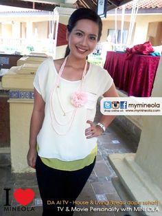 DA AI TV - House & Living [Kreasi Dapur Sehat] presenter dengan wardrobe support dari MINEOLA  Detail pakaian yang dipakai dapat dilihat di: http://www.facebook.com/photo.php?fbid=10151469974684046=a.10151438775979046.592454.98906349045=3
