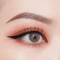 Makeup by Chanchan Eyemakeup Soft Makeup Looks, Soft Eye Makeup, Edgy Makeup, Cute Makeup, Eyeshadow Makeup, Makeup Art, Makeup Eyes, Korean Natural Makeup, Korean Eye Makeup