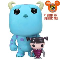 Funko POP! Disney Monsters INC. San Diego Comic Con EXCLUSIVE Sulley & Boo Vinyl Figures http://popvinyl.net #funko #funkopop #popvinyls