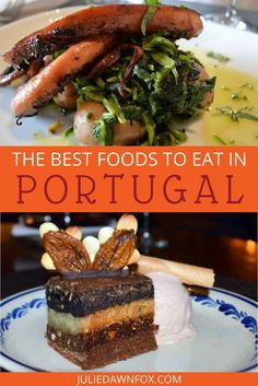 Over the last ten years that I have lived in Portugal, I've sampled a lot of different Portuguese foods. And most of the time, it's been a pleasure. For the less adventurous palate, it's easy enough to avoid dubious 'delicacies' and discover why Portuguese people are fiercely proud of their food. If you're not sure what food to try in Portugal, click through to see my favorite Portuguese foods. | Julie Dawn Fox in Portugal #portugal #portuguesefood #whattoeat #foodguide