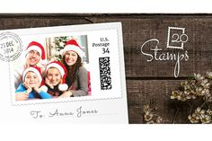 20Stamps lets you make real customized photo stamps! New Year's cards anyone?