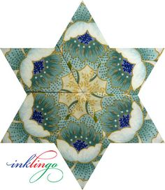 All About Inklingo » Blog Archive » Kaleidoscope Stars – Background Fabric