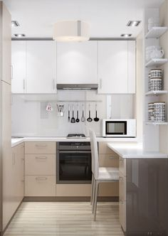 There is no question that designing a new kitchen layout for a large kitchen is much easier than for a small kitchen. A large kitchen provides a designer with adequate space to incorporate many convenient kitchen accessories such as wall ovens, raised. Kitchen On A Budget, New Kitchen, Kitchen Decor, Kitchen Ideas, Little Kitchen, Kitchen Small, Simple Kitchen Design, Interior Design Kitchen, Kitchen Flooring