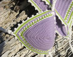 crochet bikini Gray Crochet Vintage bikini от GoodMoodCreations