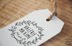 Tampon de mariage rameau d'olivier Etiquette