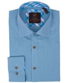 JW6616-Blue (Covent) from James Tattersall Clothing