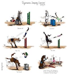 A whole new meaning to gymnastic jumping exercises! Please visit BarnGirl.com