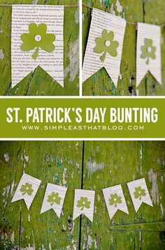 simple as that: Simple St. Patrick's Day Bunting: