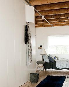 wall closet in bedroom, very clean, sleek