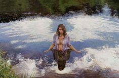 Original Painting, Vision in the Water by Steve Hanks