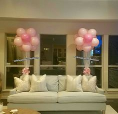 Flower Topiaries Topiaries, 2nd Birthday Parties, Balloons, Chandelier, Ceiling Lights, Celebrities, Party, Flowers, Home Decor